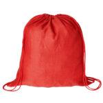 Mochila plana 100% algodón roja - RGregalos