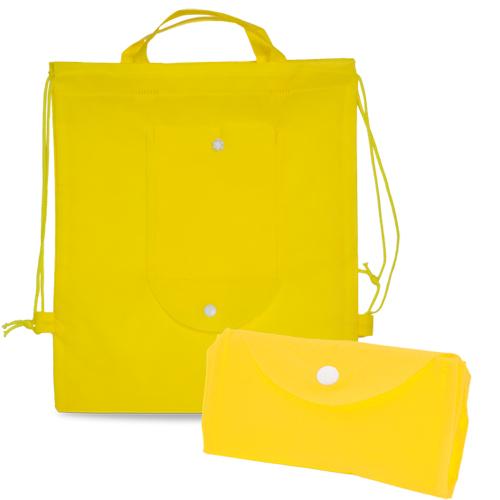 Mochila plana plegable non woven amarilla - RGregalos