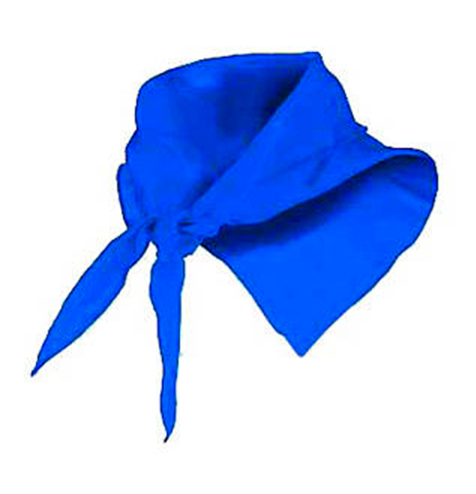Pañuelo fino triangular azul eléctrico - RGregalos