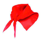 Pañuelo fino triangular rojo - RGregalos