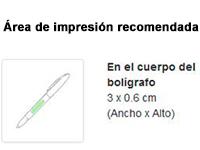 Bolígrafo puntero con luz led impresión - RG regalos publicitarios