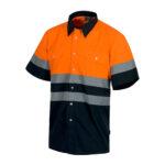 Camisa alta visibilidad bicolor MC naranja - RG regalos publicitarios