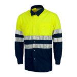 Camisa alta visibilidad bicolor ML amarilla - RG regalos publicitarios