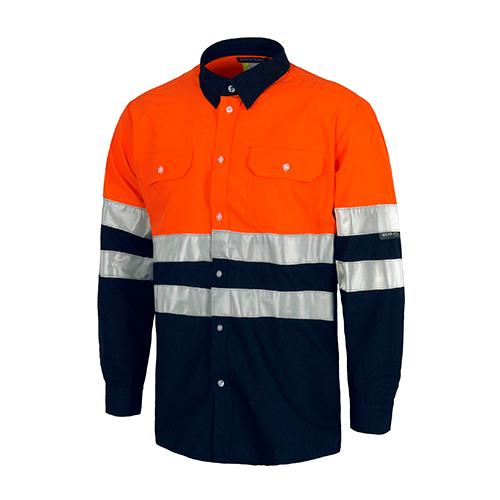 Camisa alta visibilidad bicolor ML naranja - RG regalos publicitarios