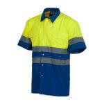 Camisa alta visibilidad combinada azul - RG regalos publicitarios