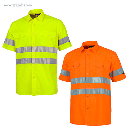 Camisa-alta-visibilidad-manga-corta-RG-regalos-publicitarios