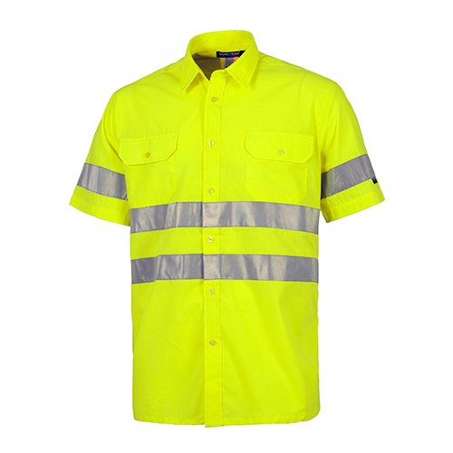 Camisa-alta-visibilidad-manga-corta-amarilla-RG-regalos-empresa