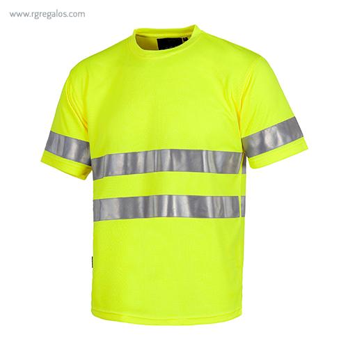 Camiseta-alta-visibilidad-combinada-o-lisa-amarilla-RG-regalos