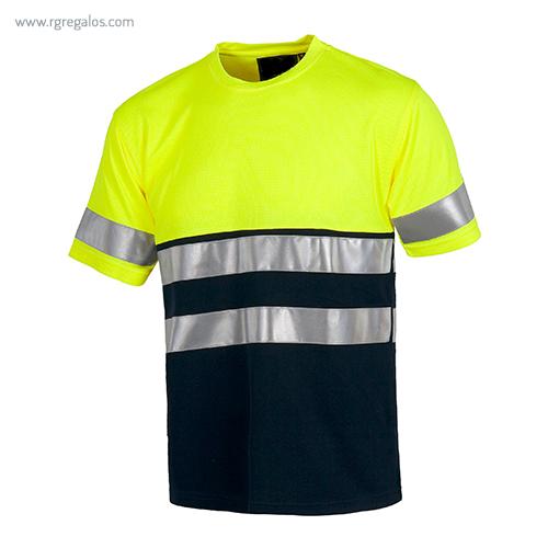 Camiseta-alta-visibilidad-combinada-o-lisa-amarilla-azul-RG-regalos