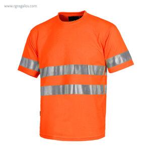Camiseta alta visibilidad combinada o lisa naranja - RG regalos publicitarios