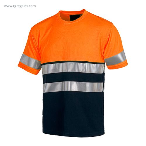 Camiseta-alta-visibilidad-combinada-o-lisa-naranja-azul-RG-regalos
