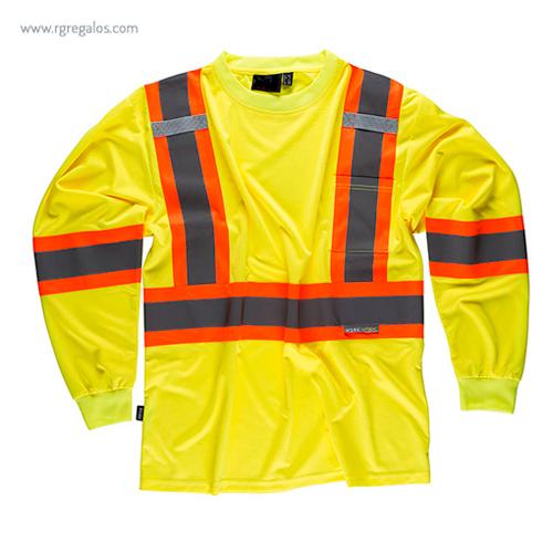 Camiseta alta visibilidad con bolsillo amarilla ML - RG regalos publicitarios