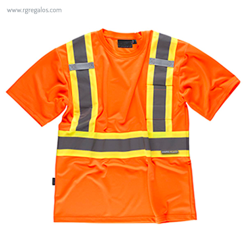Camiseta alta visibilidad con bolsillo naranja MC - RG regalos publicitarios