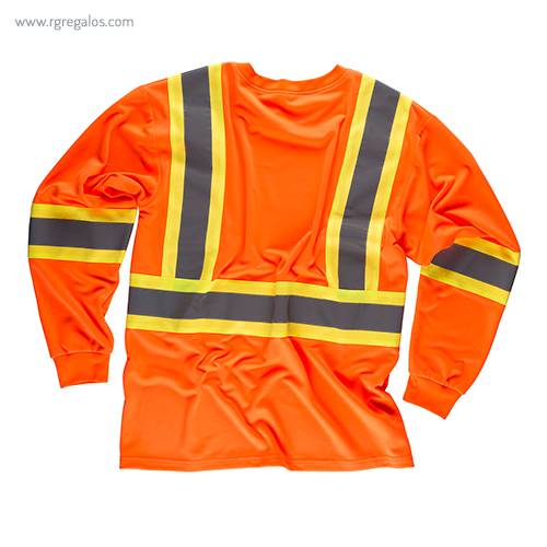 Camiseta alta visibilidad con bolsillo naranja ML - RG regalos publicitarios