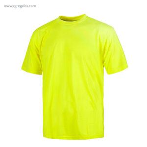 Camiseta alta visibilidad manga corta amarilla - RG regalos publicitarios