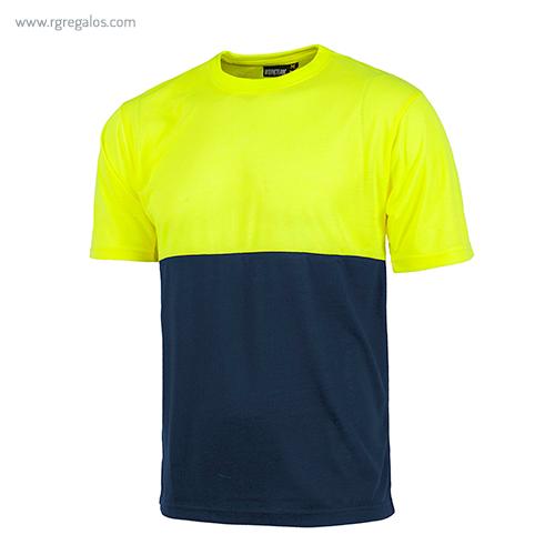 Camiseta-alta-visibilidad-manga-corta-amarilla-azul-RG-regalos-publicitarios