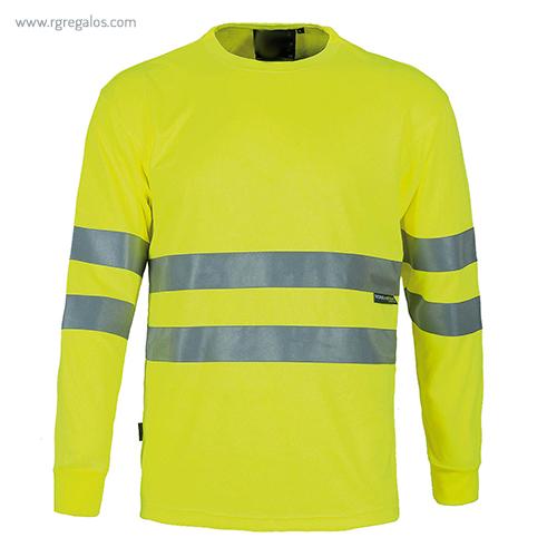 Camiseta alta visibilidad manga larga amarilla - RG regalos publicitarios