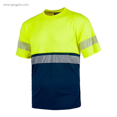Camiseta cintas reflectantes discontinuas 1 cinta - RG regalos publicitarios