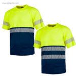 Camiseta cintas reflectantes discontinuas - RG regalos publicitarios