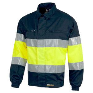 Cazadora alta visibilidad 110 azul y amarillo - RG regalos publicitarios