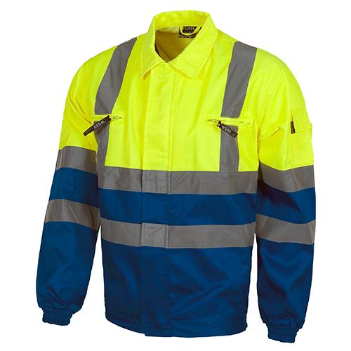 Cazadora alta visibilidad 211 amarillo y azul - RG regalos publicitarios