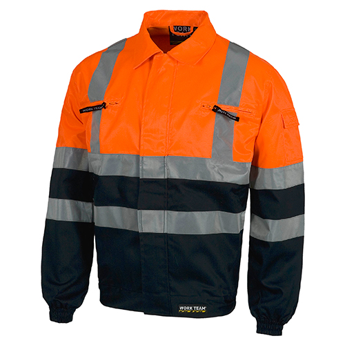 Cazadora alta visibilidad 211 naranja y azul - RG regalos publicitarios