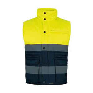 Chaleco alta visibilidad acolchado amarillo - RG regalos publicitarios