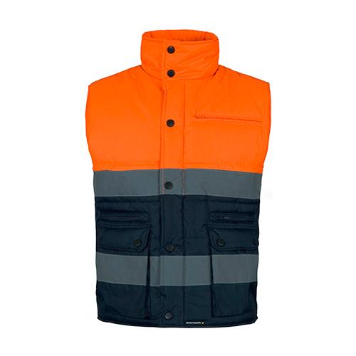 Chaleco alta visibilidad acolchado naranja - RG regalos publicitarios