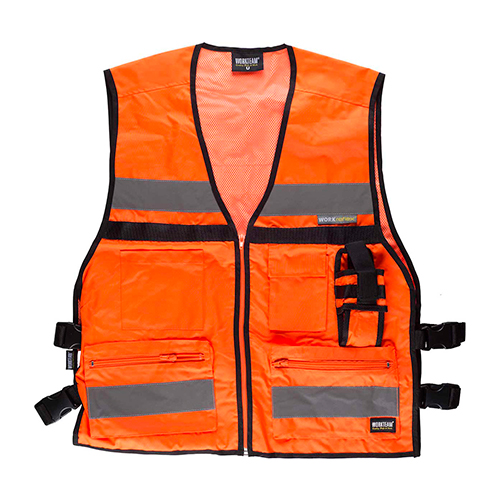 Chaleco alta visibilidad multibosillos naranja - RG regalos publicitarios