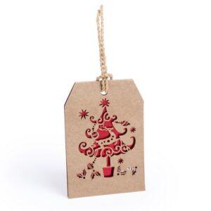 Etiqueta adorno navidad árbol - RG regalos publicitarios