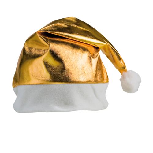 Gorro navidad poliéster dorado - RG regalos publicitarios