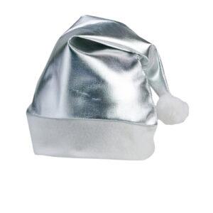 Gorro navidad poliéster plata - RG regalos publicitarios