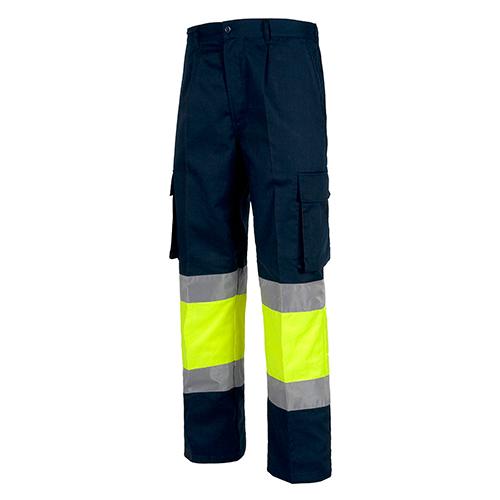 Pantalón alta visibilidad 018 azul amarillo - RG regalos publicitarios