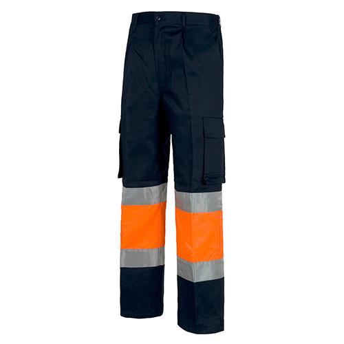 Pantalón alta visibilidad 018 azul naranja - RG regalos publicitarios