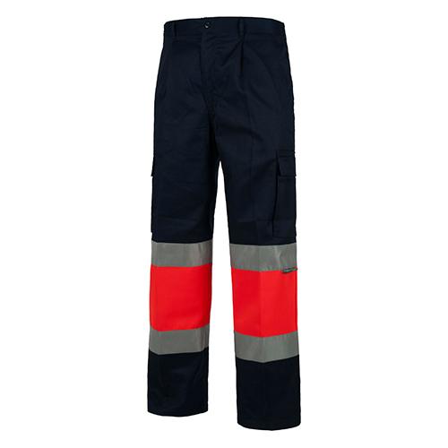 Pantalón alta visibilidad 018 azul rojo - RG regalos publicitarios