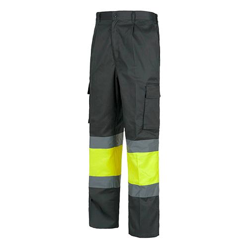 Pantalón alta visibilidad 018 gris amarillo - RG regalos publicitarios