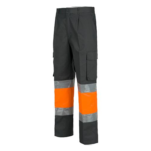 Pantalón alta visibilidad 018 gris naranja - RG regalos publicitarios