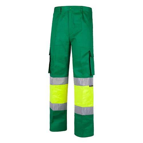Pantalón alta visibilidad 018 verde - RG regalos publicitarios