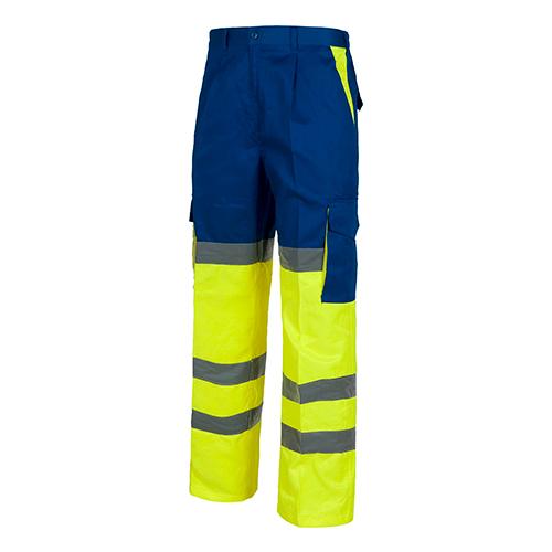 Pantalón alta visibilidad 214 amarillo y azul - RG regalos publicitarios