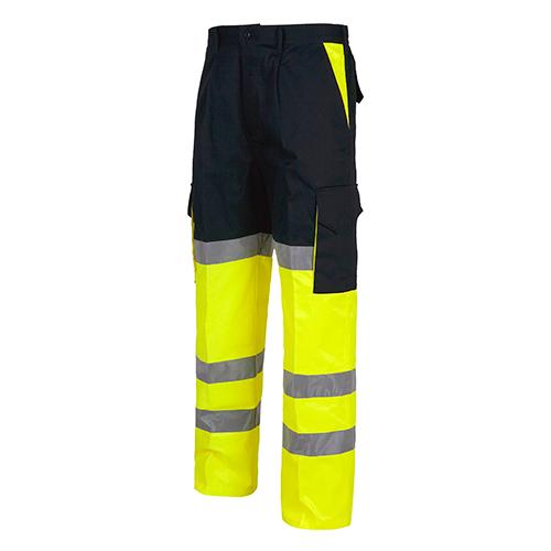 Pantalón alta visibilidad 214 amarillo y marino - RG regalos publicitarios