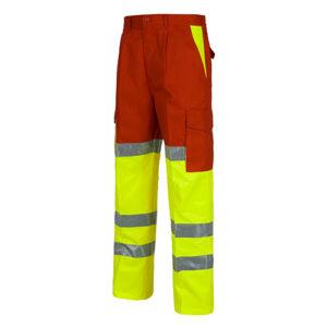 Pantalón alta visibilidad 214 amarillo y rojo - RG regalos publicitarios