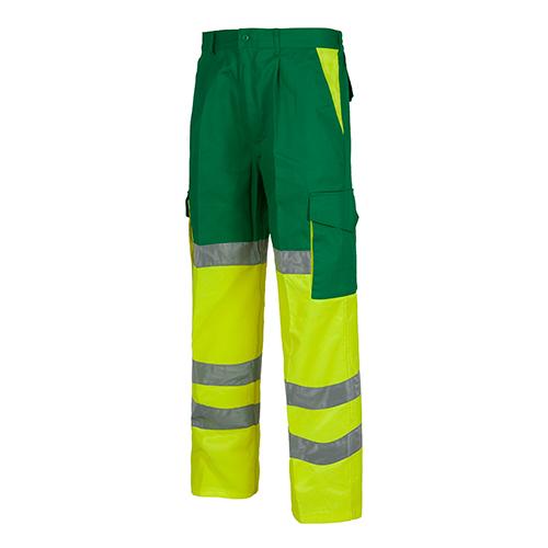 Pantalón alta visibilidad 214 amarillo y verde - RG regalos publicitarios