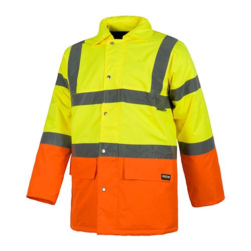 Parka alta visibilidad cuello camisero naranja - RG regalos publicitarios