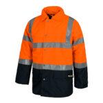 Parka alta visibilidad cuello camisero naranja y marino - RG regalos publicitarios
