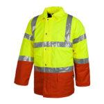 Parka alta visibilidad cuello camisero roja - RG regalos publicitarios