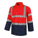 Parka alta visibilidad cuello camisero roja y marino - RG regalos publicitarios