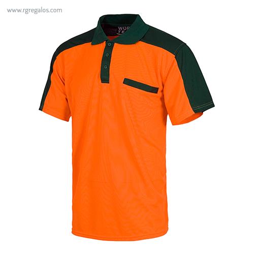 Polo alta visibilidad C805 naranja - RG regalos publicitarios