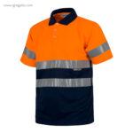 Polo alta visibilidad C870 naranja + azul MC - RG regalos publicitarios