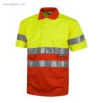 Polo alta visibilidad C870 rojo + amarillo MC - RG regalos publicitarios