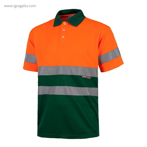 Polo alta visibilidad C870 verde + naranja MC - RG regalos publicitarios